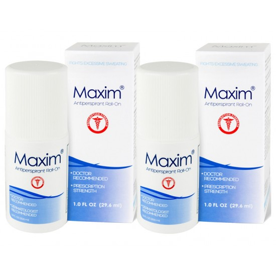 2 Pcs x Maxim Antiperspirant for Hyperhidrosis and Excessive Sweating Value Offer